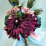 Peacock Wedding Flowers, Purple Si..
