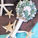 Teal Sea Shell Bridal Bouq..